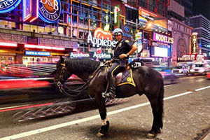 Polizia a cavallo a New York